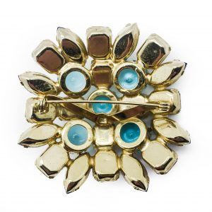 Vintage Costume Jewellery Pastel Glass Brooch