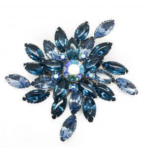 Vintage Costume Jewellery Vintage Crystal Brooch