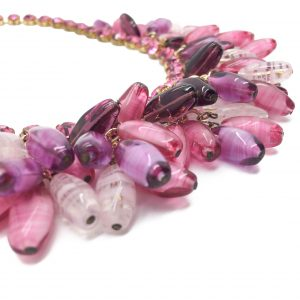 Vintage Costume Jewellery Pink 1950s Necklace
