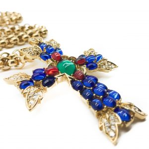 Vintage Costume Jewellery Trifari Moghul Cross