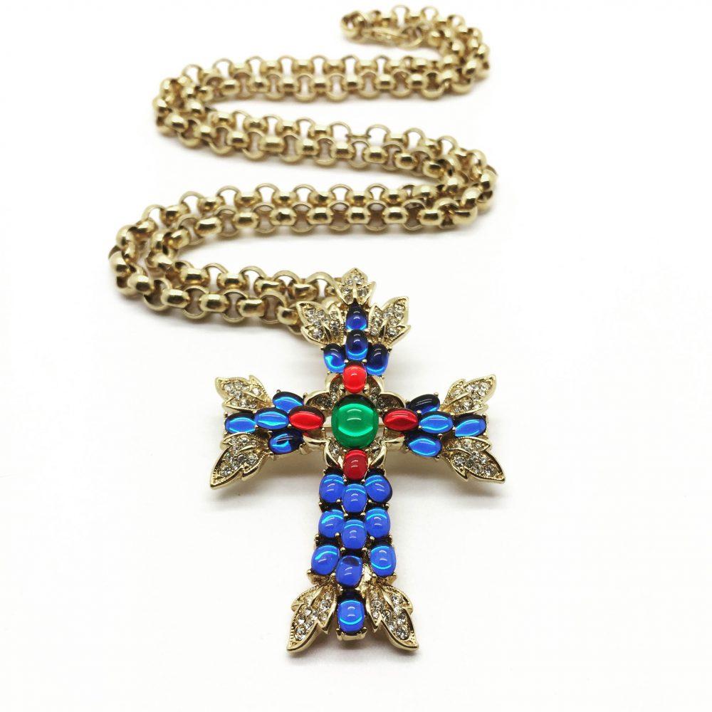 Vintage Costume Jewellery Trifari Moghul Cross