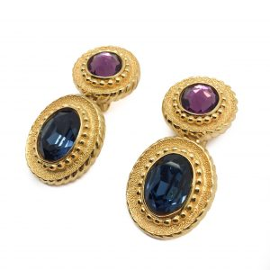 Vintage Costume Jewellery Dior Blue