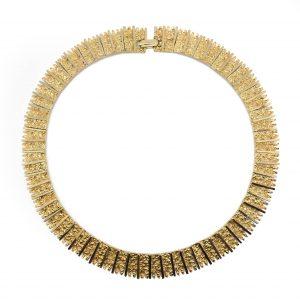 Vintage Costume Jewellery Modernist 1960s Collar