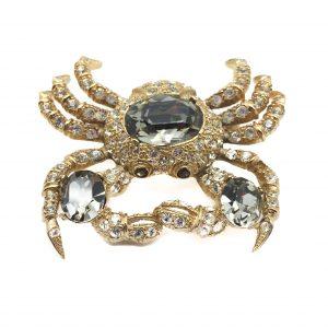 Vintage Costume Jewellery Ciner Crab Brooch