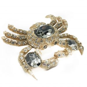 Vintage Costume Jewellery Ciner Crab Brooch