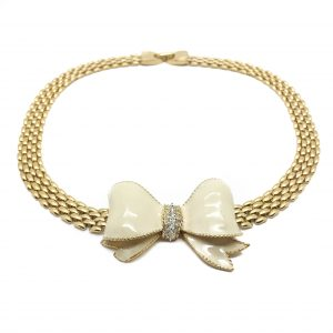Vintage Costume Jewellery D'Orlan Bow Necklace