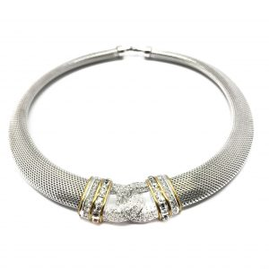 Vintage Costume Jewellery Dior 1990s Silver Collar