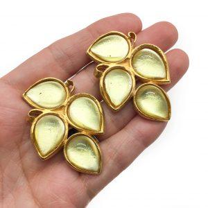 Vintage Costume Jewellery Farah Lister Earrings