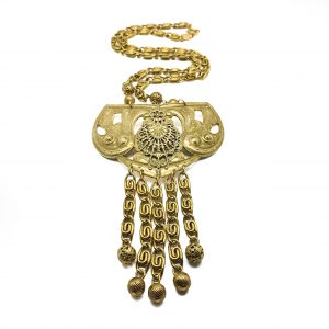 Vintage Costume Jewellery Freirich Gilt Necklace