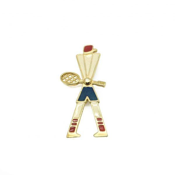Vintage Costume Jewellery Trifari Tennis Brooch
