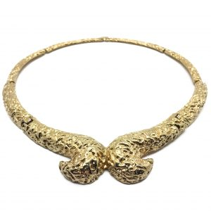 Vintage Costume Jewellery Gilt Collar