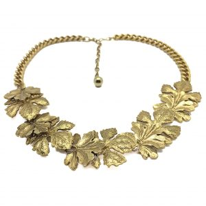 Vintage Costume Jewellery Leaf Necklace