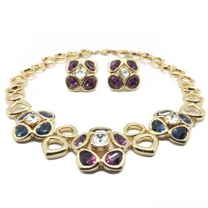 Vintage Costume Jewellery Dior Necklace Earrings