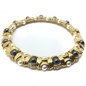 Vintage Costume Jewellery Pearl Collar