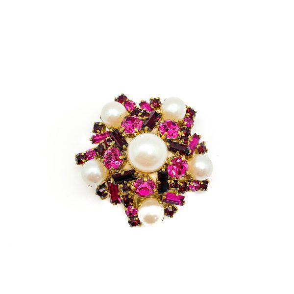 Vintage Pink Brooch
