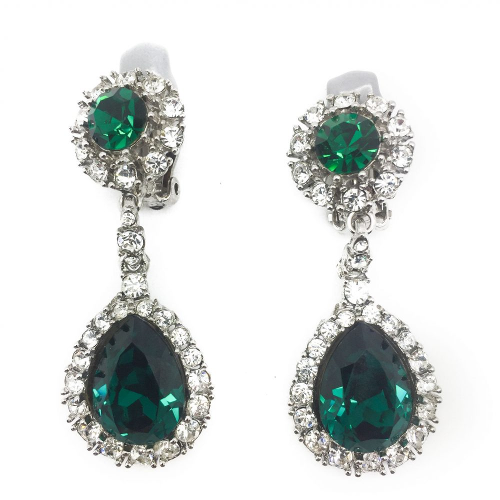 Emerald Ciner Earrings Vintage Jewellery Costume