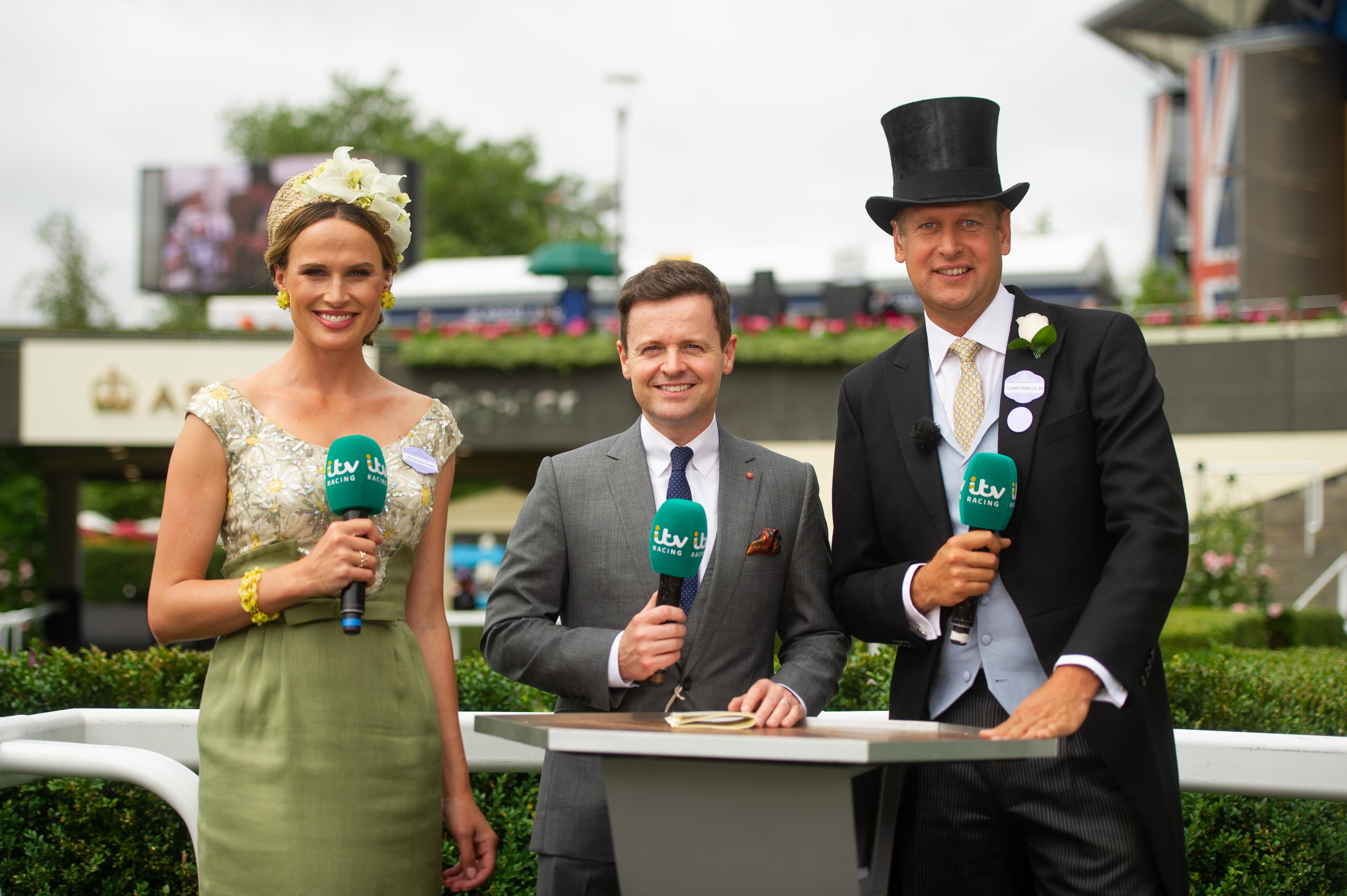 Francesca Cumani, ITV Racing, The Races, Ladies Day, Ascot Races, Royal Ascot, ITVE Presenter, Sarah Kate Byrne,