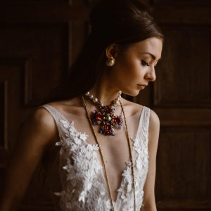Dorfold Hall Bridal Editorial Featuring Emma Beaumont Couture and Jennifer Gibson Jewellery