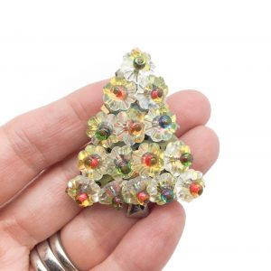Vintage Hobe Christmas Tree Brooch