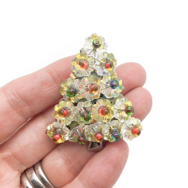 Vintage Hobe Christmas Tree Brooch