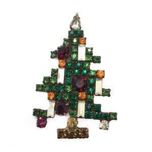 Vintage Weiss Christmas Tree Brooch