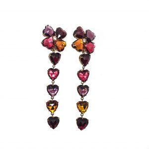 1980s YSL Heart Earrings