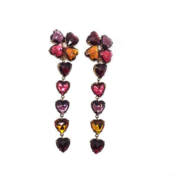 1980s YSL Heart Earrings