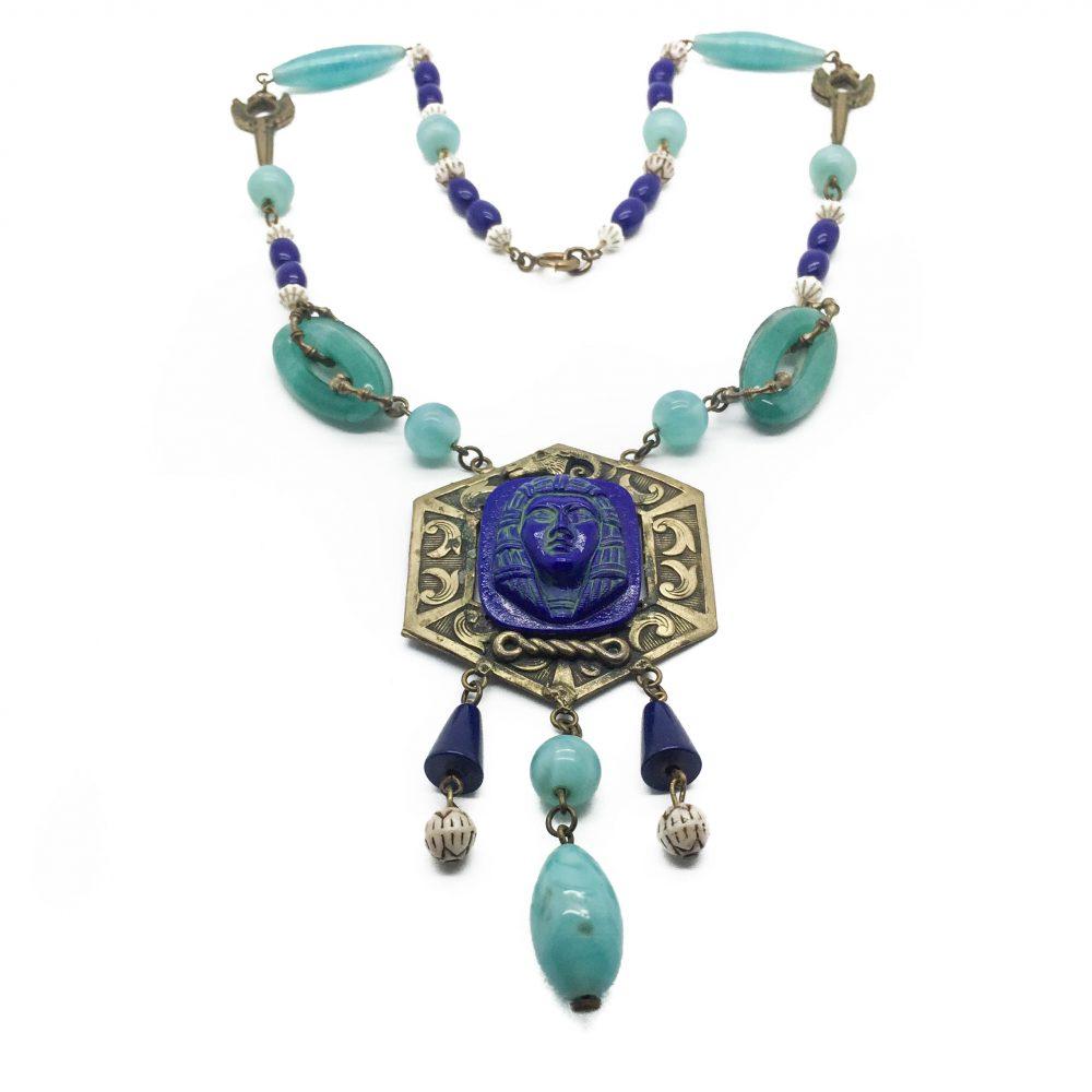 1930s Czech Egyptian Revival Necklace
