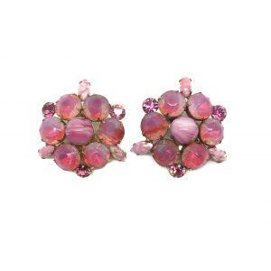 1950s Pink Earrings