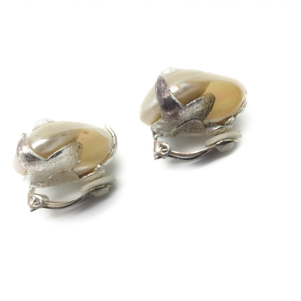 1990s YSL Seashell Earrings