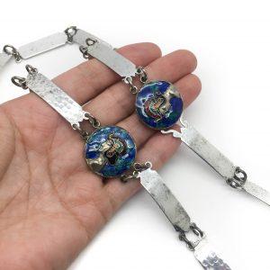 1920s Antique Egyptian Enamel Belt Necklace