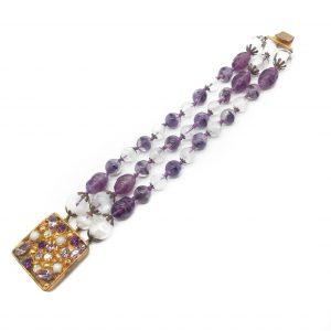 1950s Art Glass Bracelet
