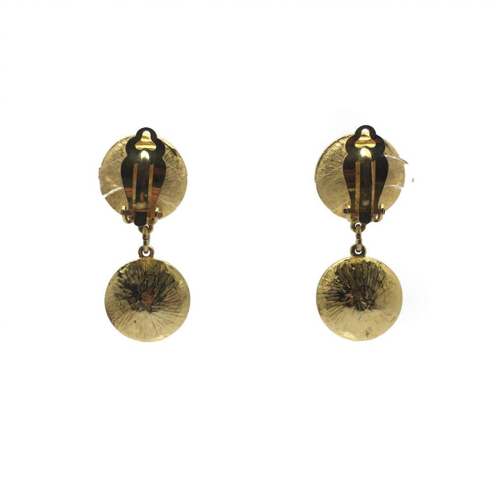 1980s Rivoli Acid Yellow Drop Earrings