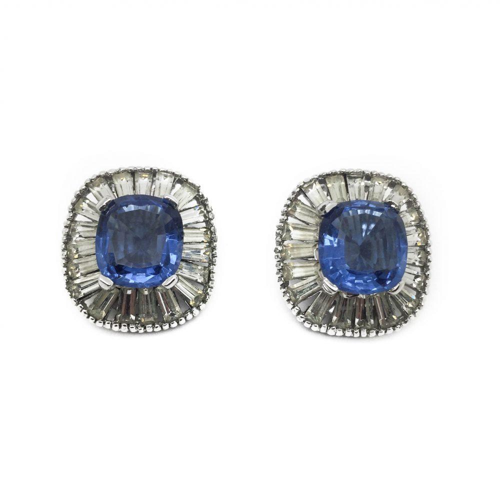 1940s JOMAZ Deco Style Earrings
