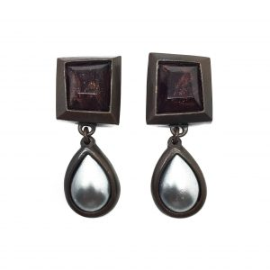 1980s Yves Saint Laurent YSL Art Drop Earrings