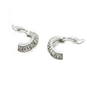1940s Pennino Crystal Deco Earrings