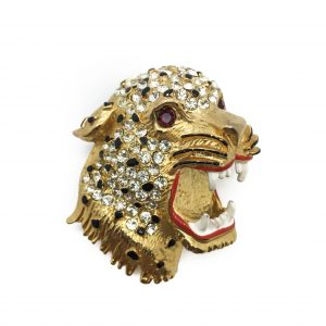 1980s Big Cat Leopard Brooch