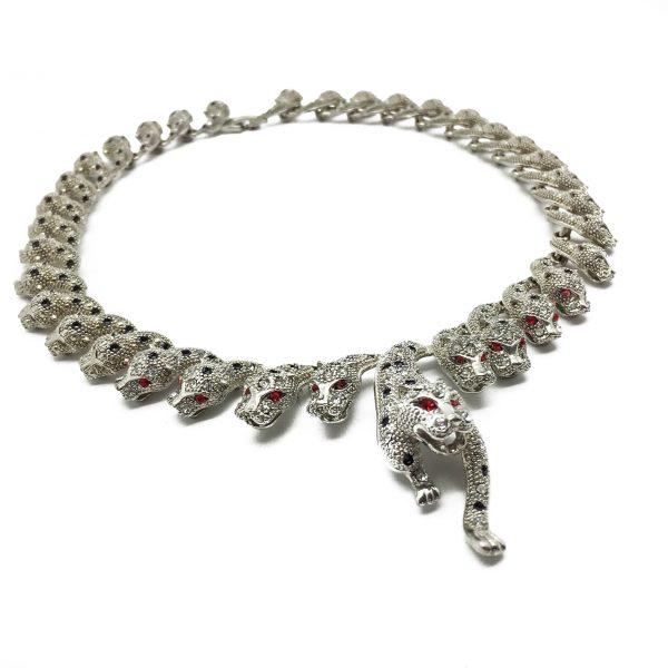 1990s Big Cat Leopard Necklace