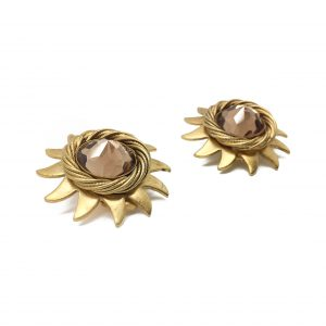 1980s Askew Sunburst Earrings