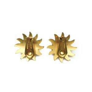 1980s Askew Sunburst Earrings