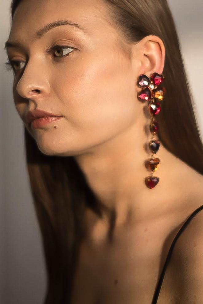 Vintage 1980s YSL Heart Earrings