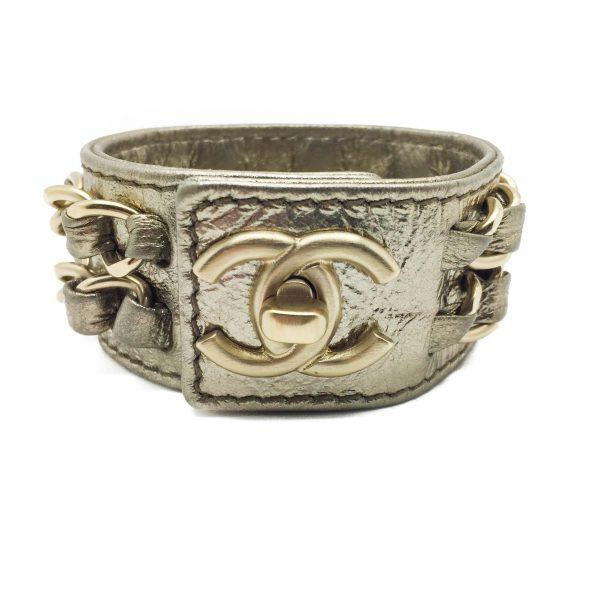 ae8ea99a906 Vintage Chanel Logo Bracelet