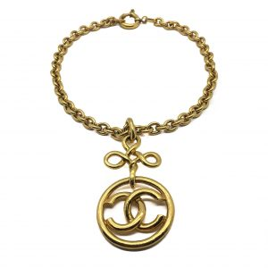 Vintage Chanel Chain Logo Necklace