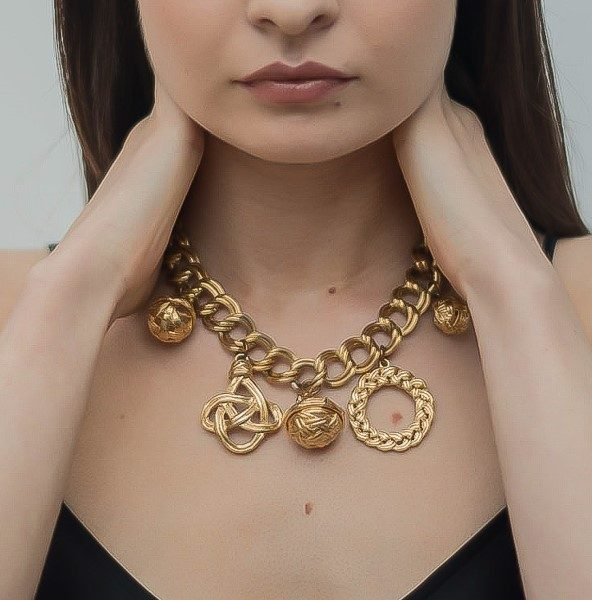 Vintage Givenchy Charm Necklace Jennifer Gibson Jewellery