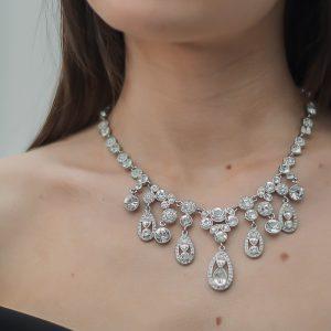 Vintage Givenchy Crystal Bib Necklace Jennifer Gibson Jewellery