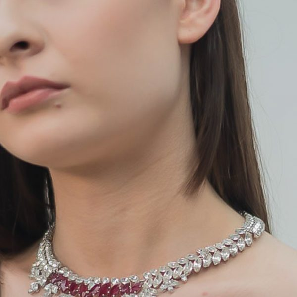 Vintage Christian Dior Ruby Necklace