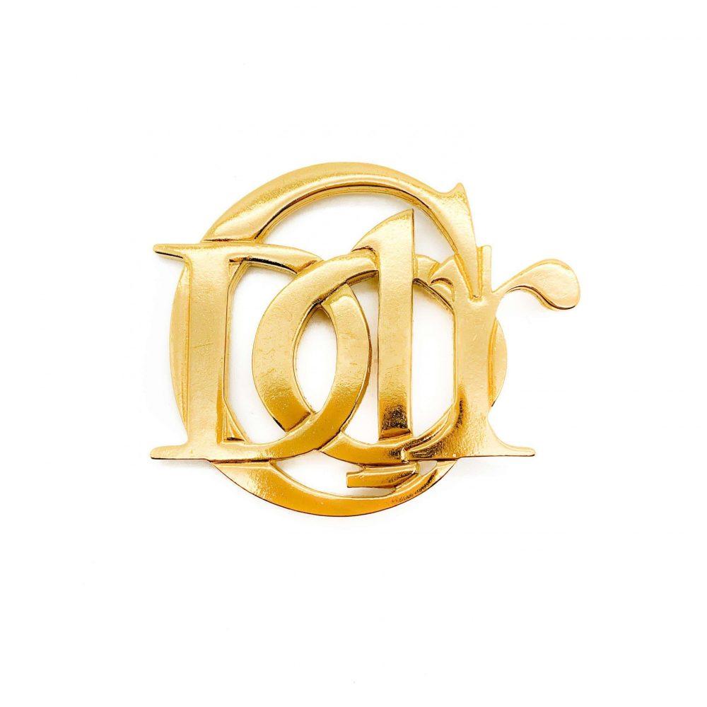 Vintage Dior brooch, dior monogram, dior logo brooch , vintage dior jewellery, logomania