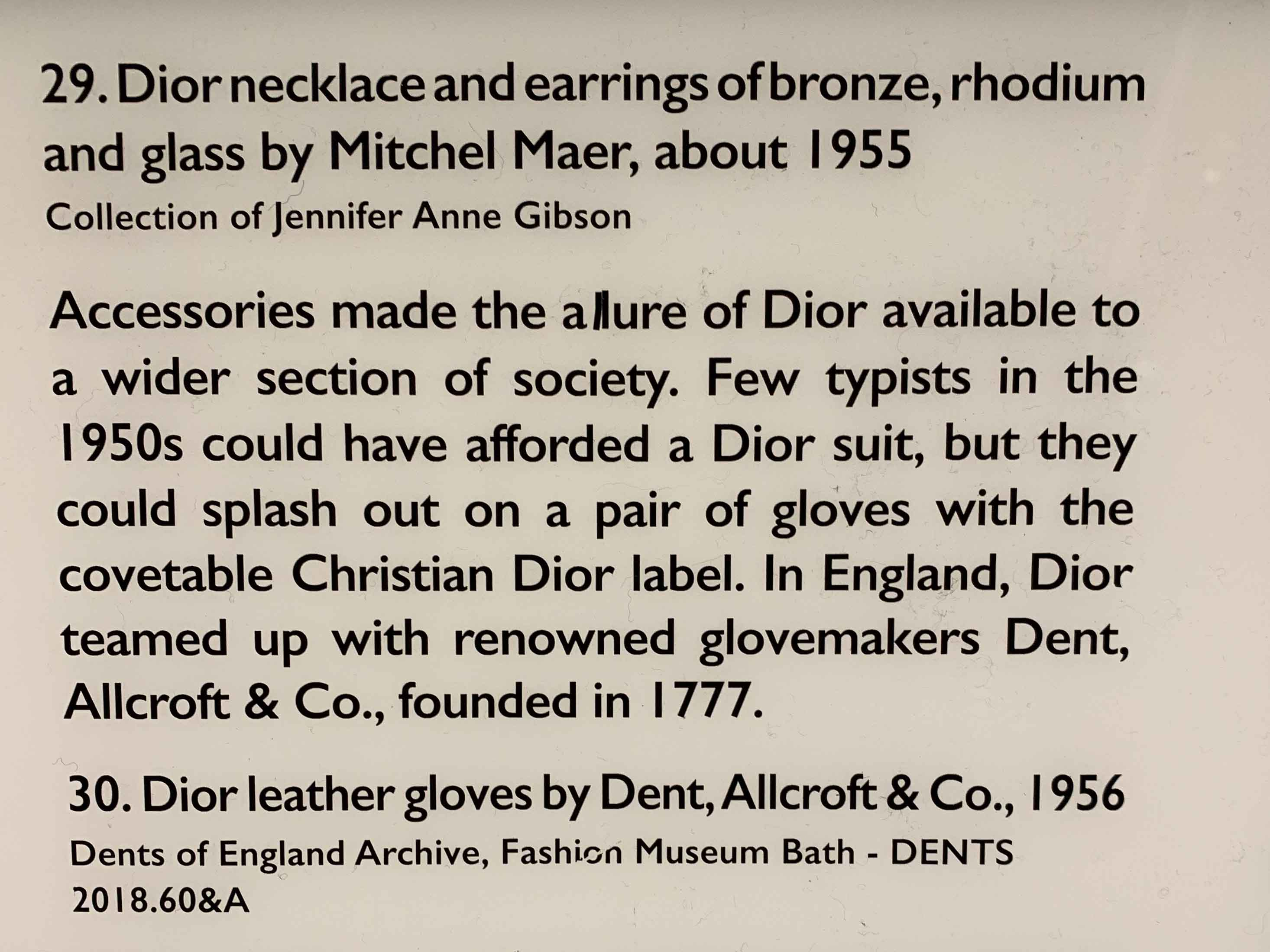 Dior Designer of Dreams Exhibition | Private Viewing Evening | Jennifer's Christian Dior Mitchel Maer Set on Loan to the Exhibition
