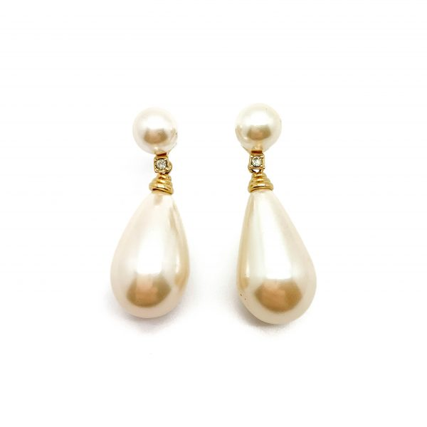 Vintage Dior Pearl Earrings