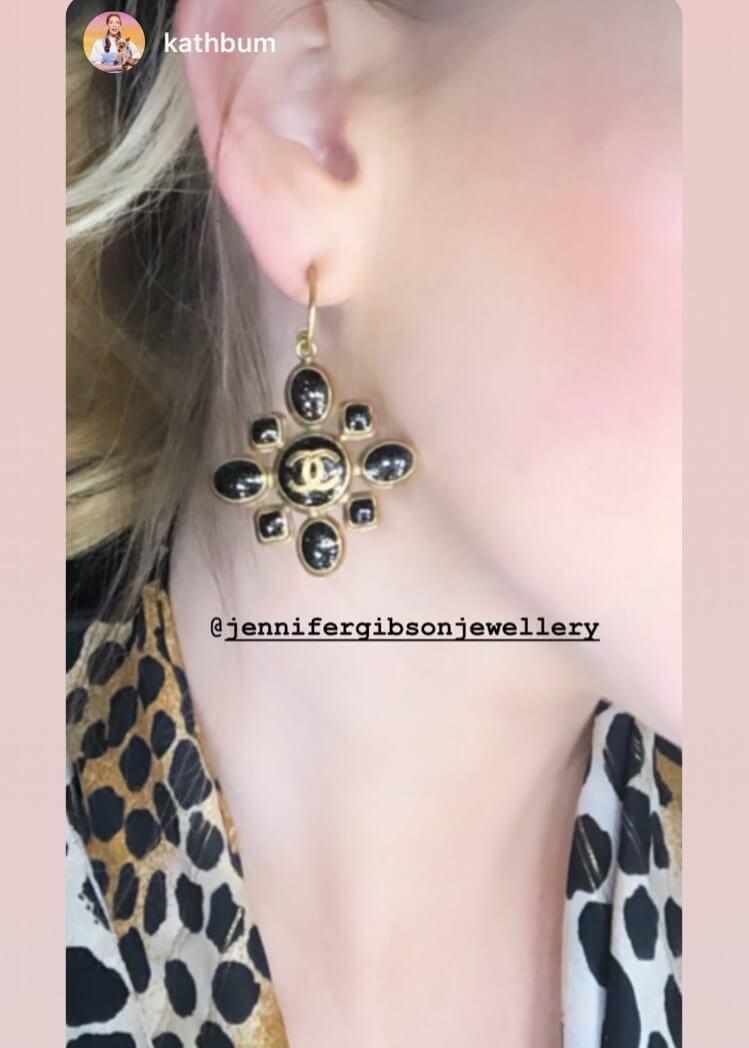 Katherine Ryan Wearing JENNIFER GIBSON JEWELLERY Vintage Chanel Spring 2019